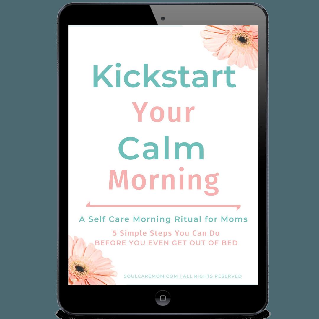 Kickstart Your Calm Morning - Soul Care Mom image on ipad