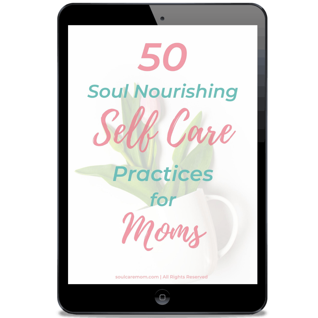 50 Soul Nourishing Self Care Practices for Moms - ipad