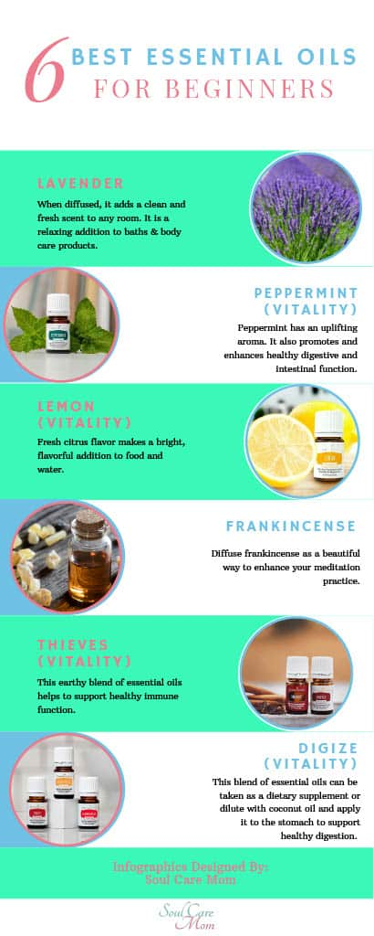 6 Best Essential Oils for Beginners - Infographic