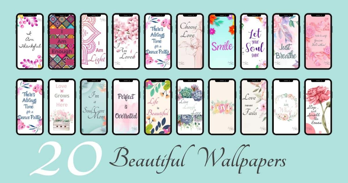 Wallpaper Bundle - Soul Care Mom - 1200 x 630